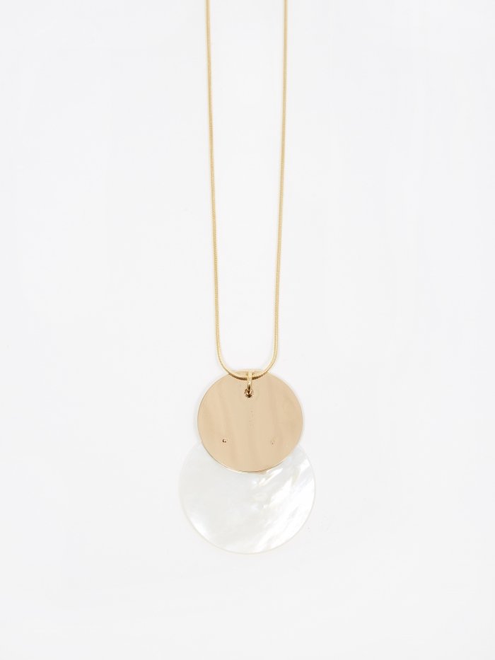 Gabriela Artigas Mother Necklace - Mother Of Pearl/Yellow Gold (Image 1)