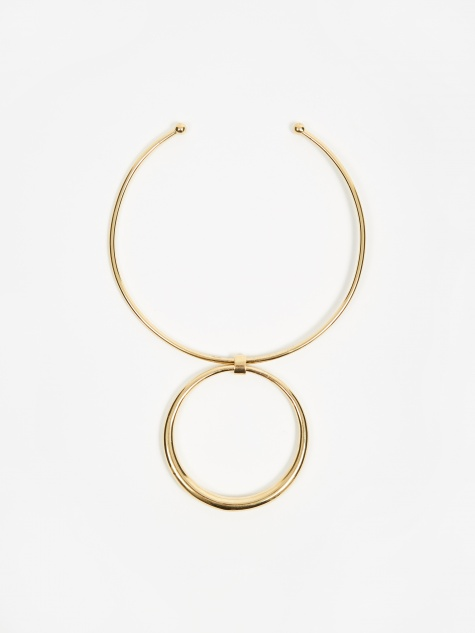 Rising Tusk Choker - 14K Yellow Gold Plated