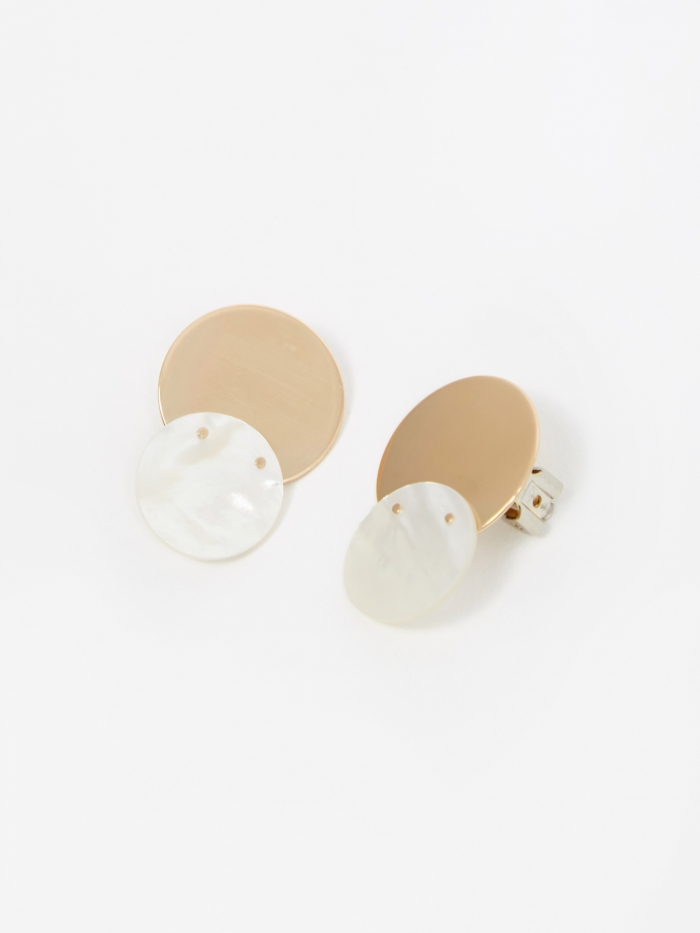 Gabriela Artigas Mother 20mm Earring - Gold Filled/Mother Of Pea (Image 1)