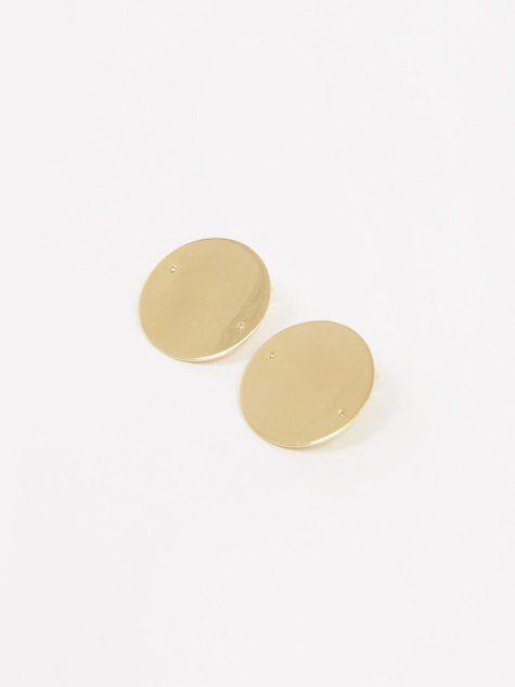 Disc 40mm Earring - Gold Filled