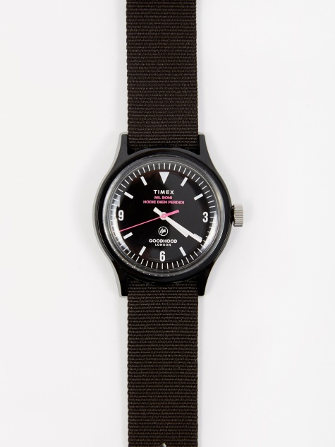 Goodhood x Timex Camper MK1 Watch - Black/Black/Shock Pink