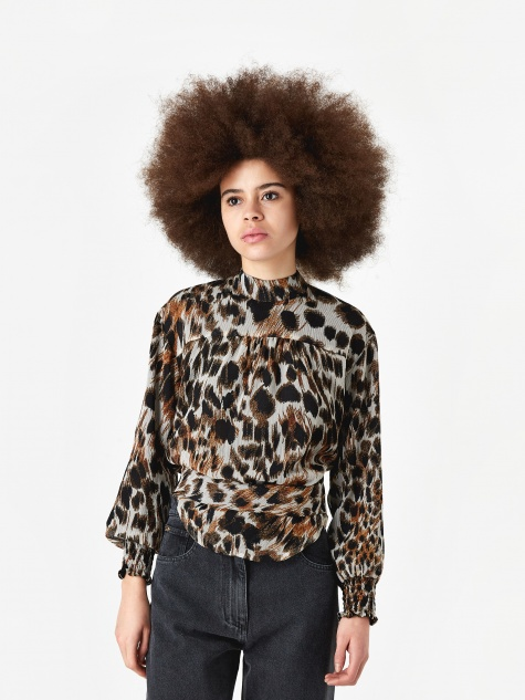 Marjan Printed Top - Ocelot