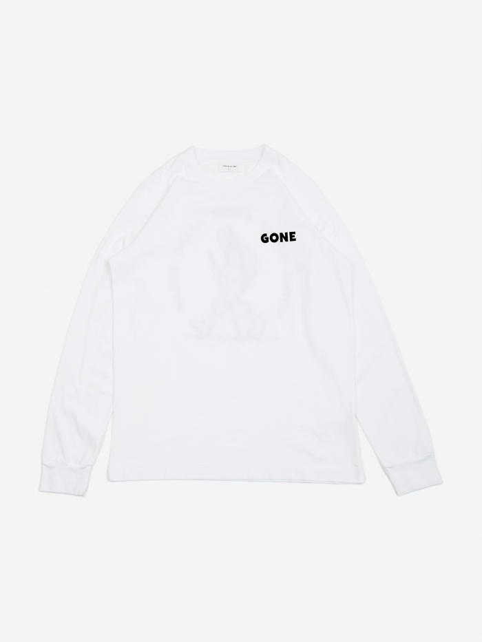 Wood Wood Han Longsleeve T-Shirt - Bright White (Image 1)