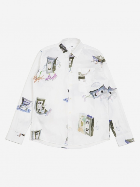 Kujan All Over Print Shirt - White