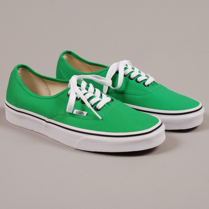 Vans Authentic - Bright Green/Black (Image 1)