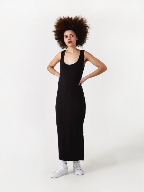 Rib Dress - Anthracite