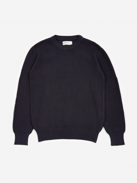 Fishermans Crewneck Sweater - Navy