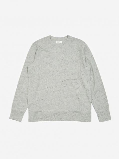 Loose Pullover Sweatshirt - Grey Marl