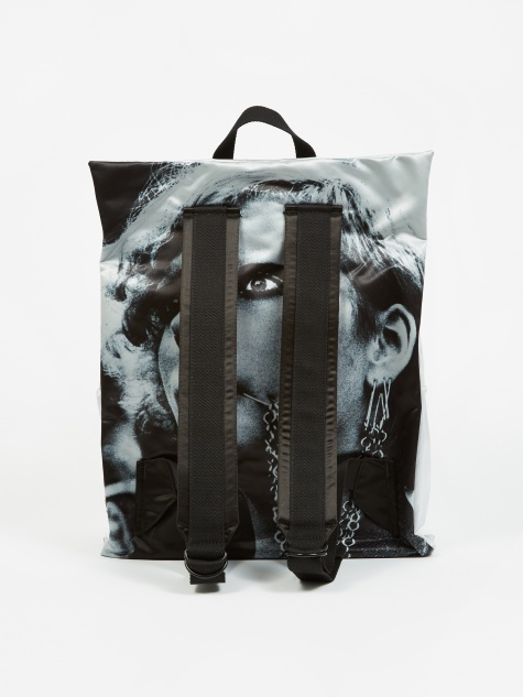 x Raf Simons Poster Padded Backpack - Silver Sat Punk S