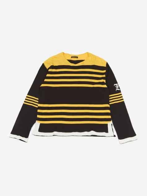 Striped Longsleeve T-Shirt UCW4813 - Yellow Border