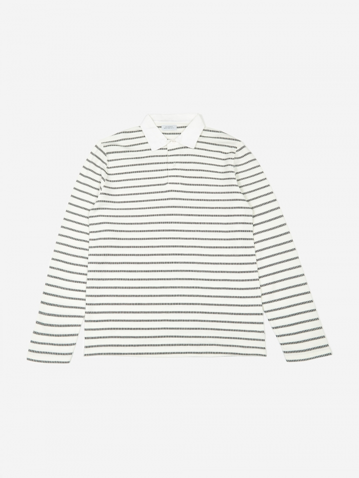 Saturdays NYC Sanders L/S Polo - Ivory (Image 1)