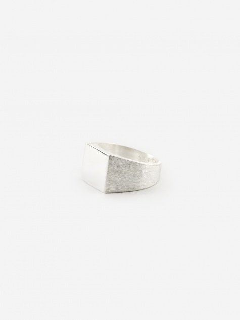Platform Ring - Polished/Brushed 925 Sterling Silver