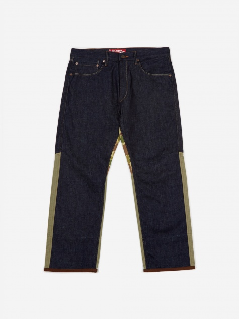 Junya Wantanabe MAN Denim And Herringbone Trouser