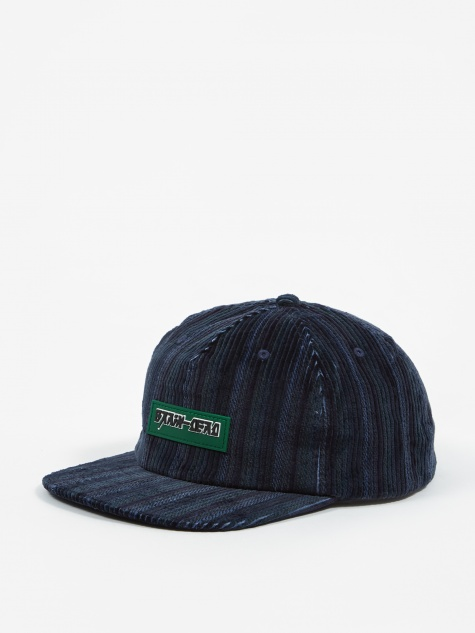 Cord 5 Panel Hat - Blue Stripes