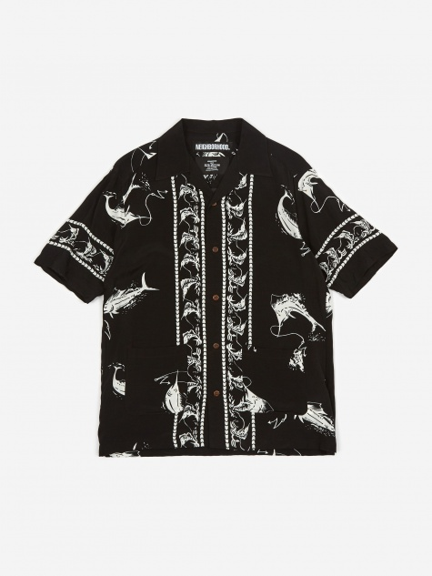Short Sleeve Aloha Swordfish / R-Shirt - Black