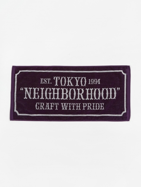 Bar & Sheild-s / C-Towel - Purple