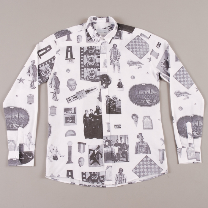 Soulland Vania Button-Down Shirt W.All Over - White/Black (Image 1)