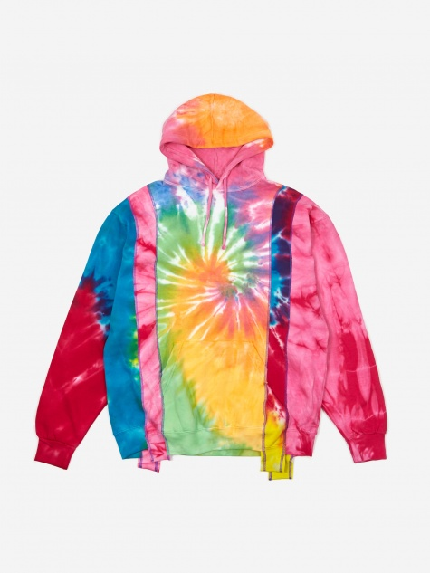 Rebuild 5 Cuts Tie-Dye Hooded Sweatshirt Size Medium 1 -