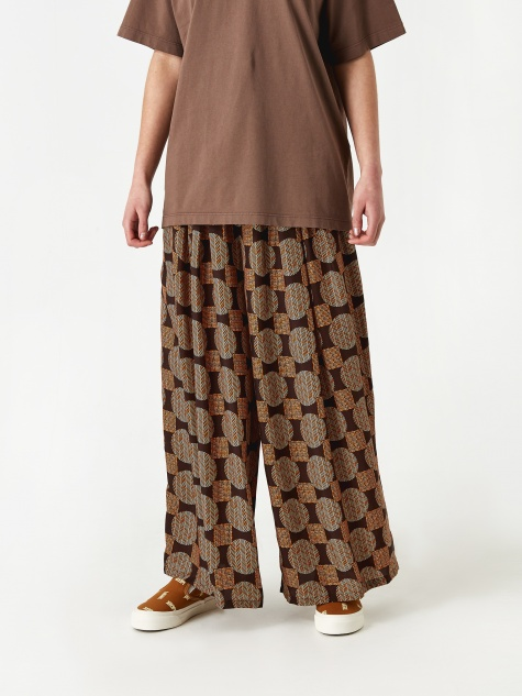 Sateen Sheen Balloon Pant - Brown