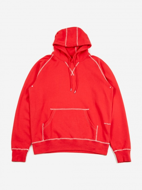 Logo Hooded Sweatshirt - Coral