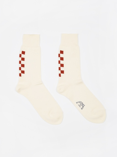 Navin Socks - Ivory/Red