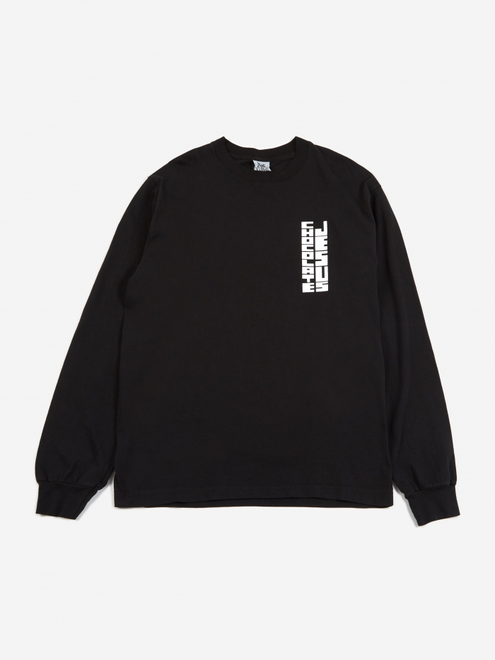 Virgil Normal Chocolate Jesus Longsleeve T-Shirt - Black (Image 1)