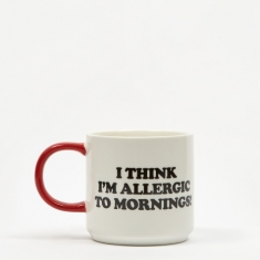 Peanuts Mug - Allergic To Mornings