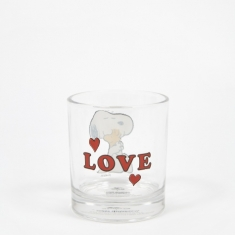 Peanuts Glass Cup - Love