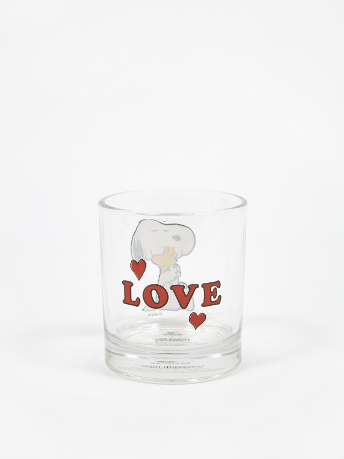 Peanuts Glass Cup - Love (Image 1)