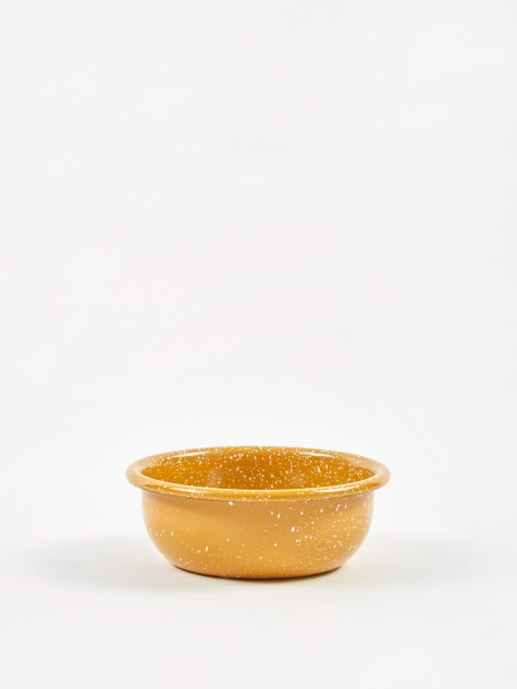Enamel Dust Small Bowl - Mustard