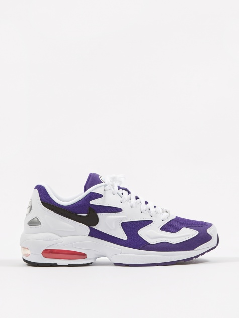 Air Max2 Light - White / Black / Purple / Hyper Pink