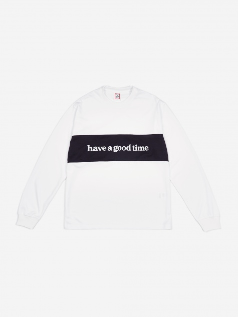 Panel Jersey Longsleeve T-Shirt - White/Black