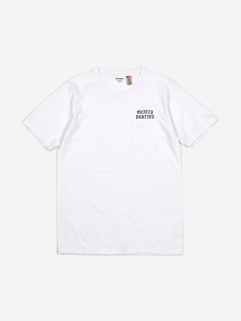 Oversized Crewneck Pocket T-Shirt (Type-1) - White