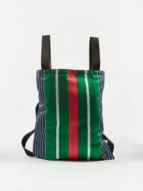 x Porter Stripe Helmet Bag - Navy/Pink/White