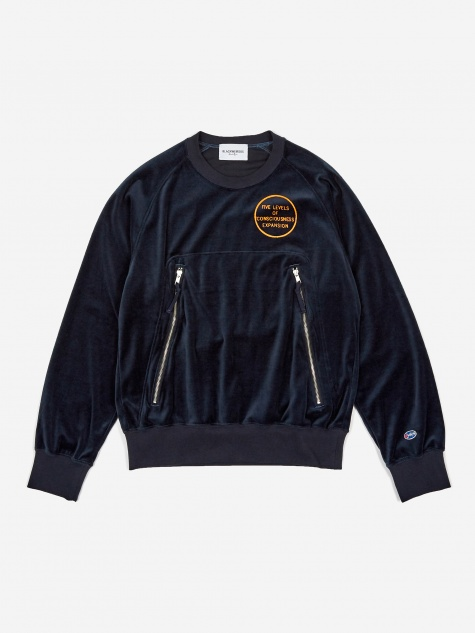 Velour Sweatshirt - Navy