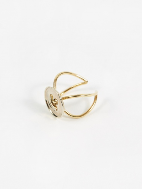 Button Wire Ring - Silver/Gold