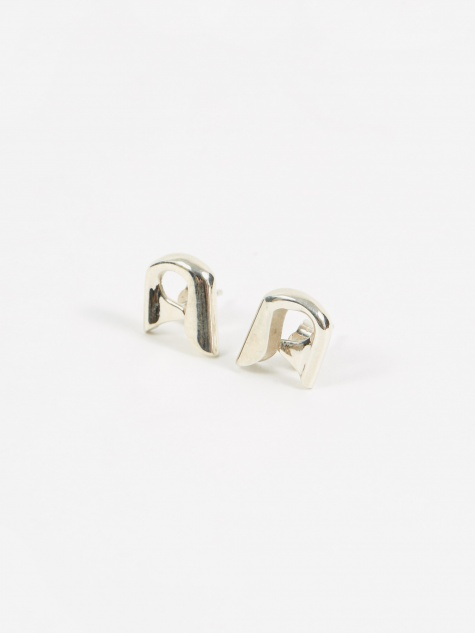 Small Pin Earrings - Silver