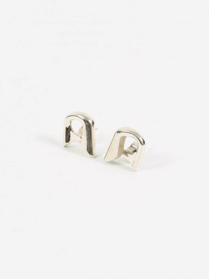 Judy Blame Jewellery Small Pin Earrings - Silver (Image 1)