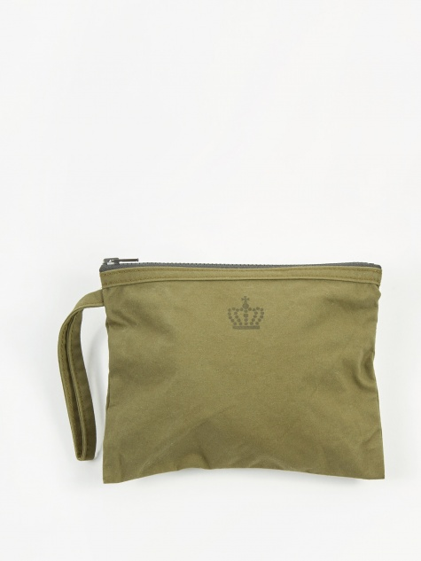 Square Edge Fabric Storage Pouch 20x16cm - Army Olive