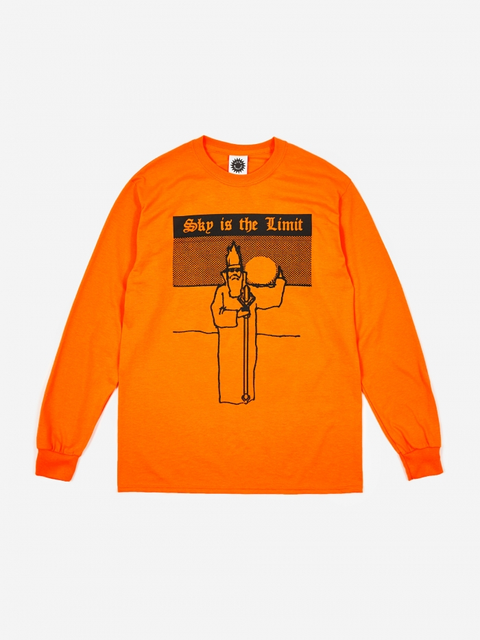 Good Morning Tapes Sky Is The Limit Longsleeve - Orange (Image 1)