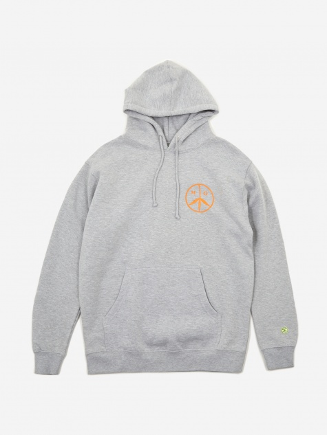 Peace/Sun Hooded Sweatshirt - Heather