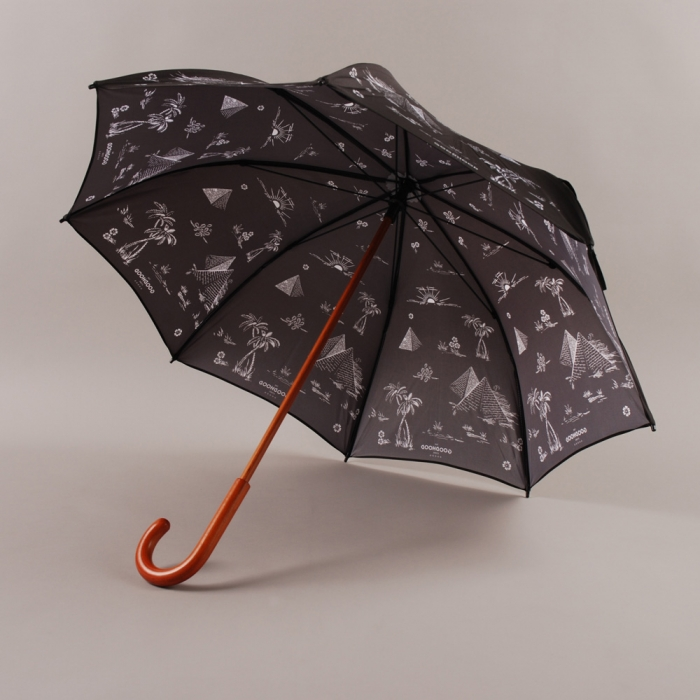 The Goodhood Store 5 Years Goodhood 5th Anniversary Umbrella - Black (Image 1)