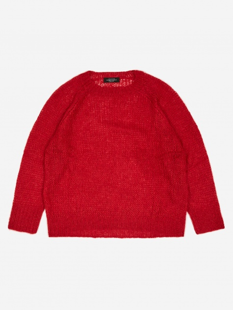 Fine Knit Sweater - Red