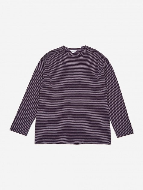 Striped Longsleeve T-Shirt - Purple/White