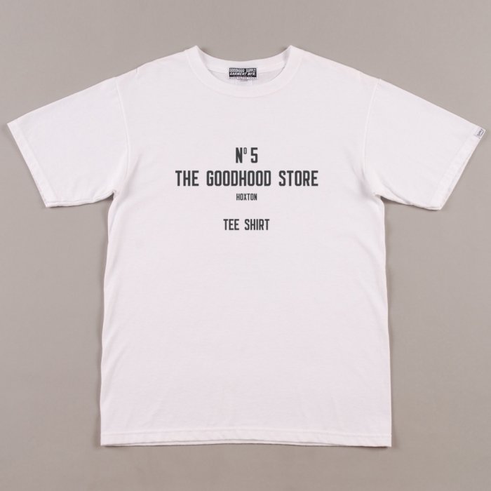 The Goodhood Store 5 Years Goodhood 5th Anniversary No 5 Tee - White (Image 1)