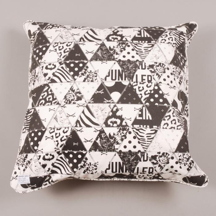 The Goodhood Store 5 Years Goodhood Cushion Patchwork 60cm - Off White/Black (Image 1)