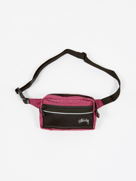 Diamond Ripstop Waist Bag - Berry