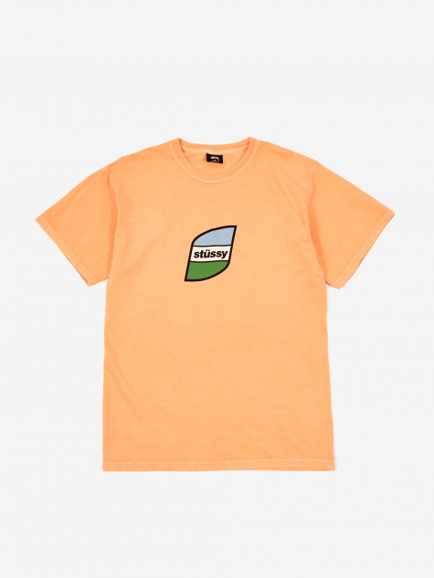 Stripes Pigment Dyed T-Shirt - Coral