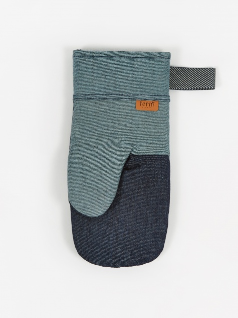 Denim Oven Mitt - Blue