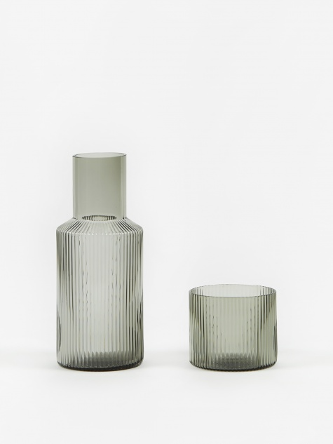 Ripple Small Carafe Set - Smoked Grey